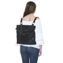 -Black Leather Convertible Backpack Berlin-21