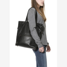 -black leather tote bag Napoli-23