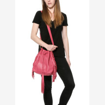 -Pink leather shoulder bag-24