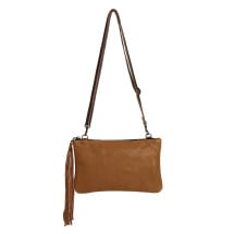 -Light Brown Leather Handbag Carolina-24