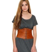 -Brown corset leather belt-21