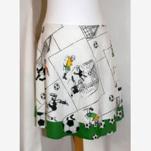 -Football skirt white-green-22