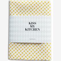 -Tea towel by KISS MY KITCHEN Pali yellow / white-21