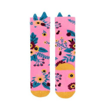 -Pink Garden Knee High Socks-21