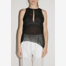 -Black Top Georgetta Silk from NOSTRASANTISSIMA-21