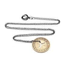 -Subway Token Vintage NYC Necklace Hematite-21