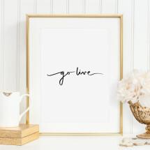-Tales by Jen Art Print: Go live-21