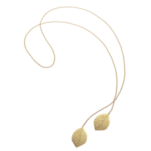 -Leaf Lariat Necklace-21