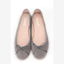 -Ballerinas Gray Suede Batelli Ballerinas Gray-28
