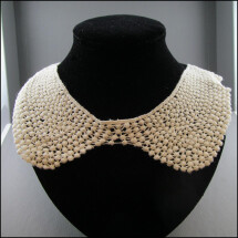 -Structure fabric collar beige-21