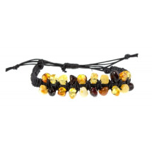 -Handmade bracelet with amber pieces-21