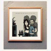 -Charles Bukowski print 40 x 40 cm-2