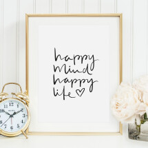 -Tales by Jen Art Print: Happy mind happy life-21