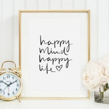 -Tales by Jen Art Print: Happy mind happy life-21