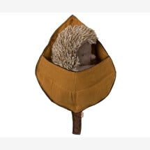 -Maileg soft toy hedgehog in a bed of leaves-22