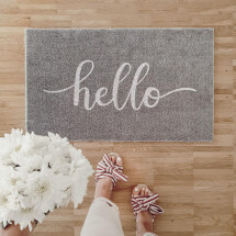"-Owl cut doormat outdoor ""hello""-21"