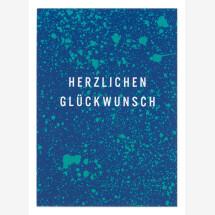 -Congratulations speckles turquoise blue postcard-21