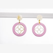 -Elegant hoops made of pink lacquered horn-21