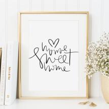 -Tales by Jen Art Print: Home sweet home-21