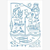 -Hamburg Elbe Alster poster-22