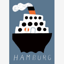 -Hamburg steamer blue postcard-21
