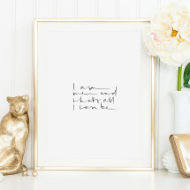 -Tales by Jen Art Print: I am and thats all I can-21