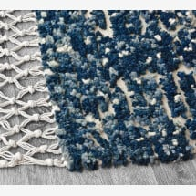 -Wool rug Shades of blue-21