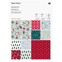 -Rico Design Jolly Christmas motif paper block-21