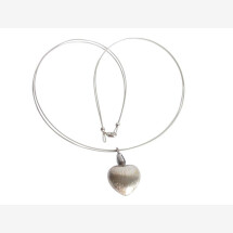 -Heart Necklace Pendant 925 Silver 45 cm-21