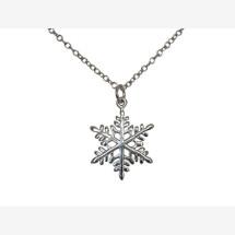 -Necklace pendant SNOWFLAKE 925 silver 2 cm-21