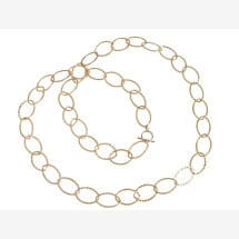 -Gold Plated Necklace Hammered 90 cm-21