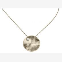 -Necklace Pendant 925 Silver Shell Geometric Design Pearl White 45 cm-21