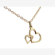 -Heart Necklace Pendant 14k 585 Solid Gold 45 cm-21