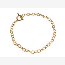 -Unisex Bracelet Gold plated 19 cm-21