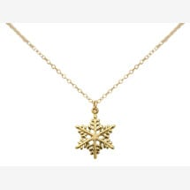 -SNOWFLAKE Necklace 925 Sterling Silver Gilded 2 cm-21