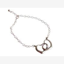 -Heart Bracelet 925 Sterling Silver 45 cm-21