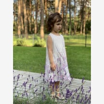 "-Linen Dress ""Lavender"" for kids/children-21"
