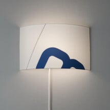 -Maritime wall lamp home port of sail with textile cable-2