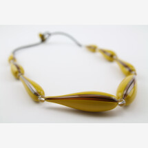 "-Murano Glass Blown Necklace ""TANTAK""-20"