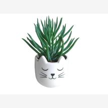 -Keramik Mini Übertopf Katze-20