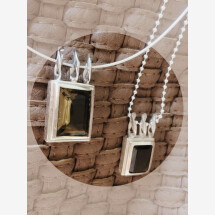 -Smoky quartz pendant in Silver 925-21