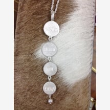 -Silver pendant 925 with stamped platelets-21