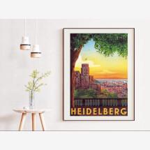 -Heidelberg vintage travel poster-21