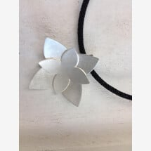-Pendant sterling silver 925 in flower shape-2