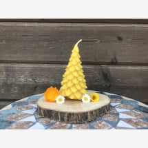-Beeswax Christmas tree candle-21