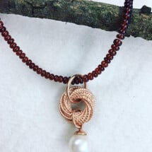 -Silver pendant 925 sterling gold plated red-20