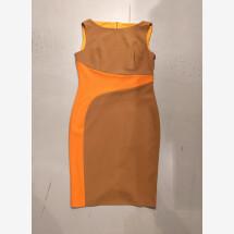 -orange-braunes Bleistiftkleid RINASCIMENTO-22