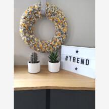 -trendy decorative wreath in gray yellow wreath-21