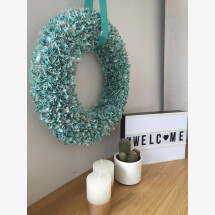 -petrol colored decorative wreath-21