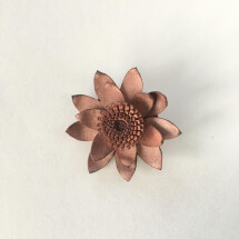 -Flower brooch from upcycling leather red pink DUPLICATE-2